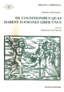 Borromeo, De cognitionibus. Copertina