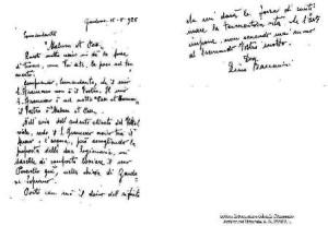 Lettera di Baccarini a d'Annunzio