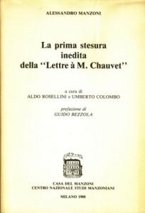 Copertina, Lettre à Chauvet, 1988
