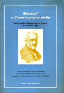 Copertina, Manzoni e il suo impegno civile, 1986