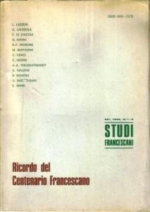Copertina, Ricordo del Cent. Francescano, 1983